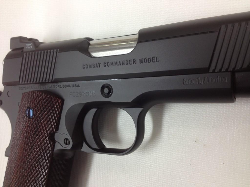 Graphite Black Cerakote with Nitre Blued Screws - Colt 1911 Combat Commander